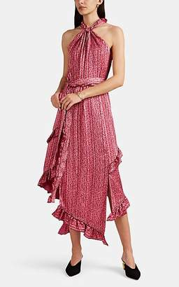 Derek Lam 10 Crosby Women's Striped Floral Crepe Halter Dress - Pink