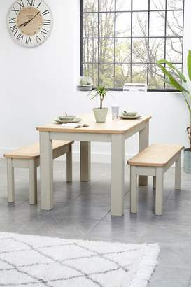 Next Huxley Painted Dining Table & Bench Set