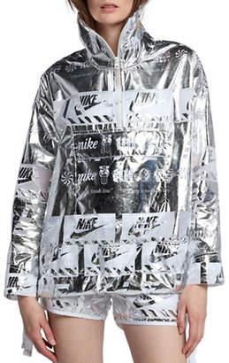 Nike Metallic Half-Zip Jacket