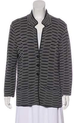 Armani Collezioni Long Sleeve Knit Jacket