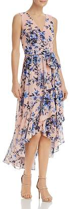 Eliza J Floral Faux-Wrap Dress