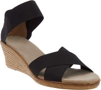 Co Charleston Shoe Stretch Wedge Sandals - Cannon