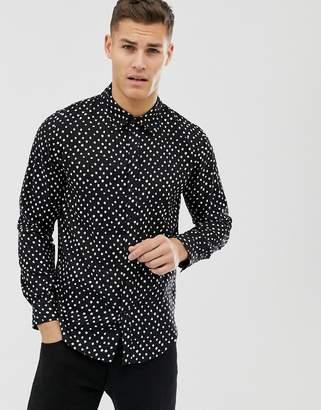 Another Influence polka dot long sleeve shirt