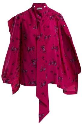Balenciaga Multi Snaps Blouse - Womens - Pink Print