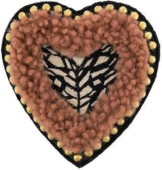 Yves Salomon Meteo embellished heart brooch
