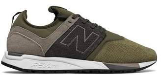 New Balance 247 Luxe Suede Knit Mesh Sneaker in Green