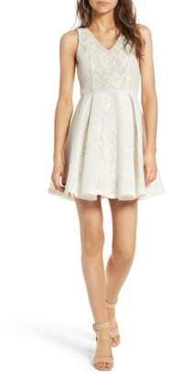 Women's Soprano Bonded Lace Fit & Flare Dress $59 thestylecure.com
