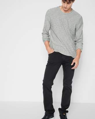 7 For All Mankind Luxe Performance Colored Denim The Straight in Cast Iron