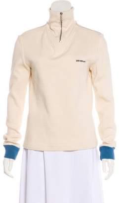 Calvin Klein Mock Neck Logo Sweatshirt
