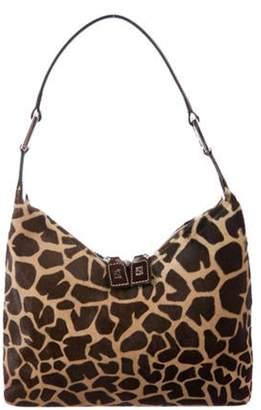 Fendi Printed Ponyhair Shoulder Bag Brown Printed Ponyhair Shoulder Bag