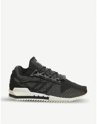 Y3 Y-3 Harigane Primeknit and leather trainers