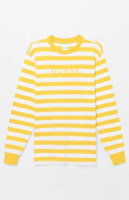 Guess Palm Stripe Long Sleeve T-Shirt