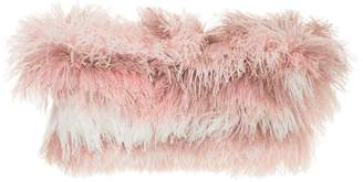Isabel Sanchis tonal ostrich feather shrug