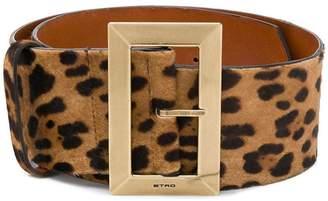 Etro leopard print belt