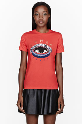 Kenzo Red Eye print t-shirt