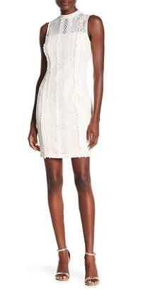 Kensie Lace Mock Neck Dress