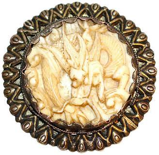 One Kings Lane Vintage C. 1930 Carved Bone Dragon Dress Clip