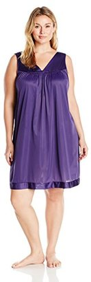 Vanity Fair Women's Plus Size Coloratura Sleepwear Short Gown 30807 $34 thestylecure.com