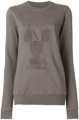 Rick Owens embroidered motif sweatshirt