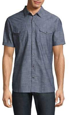 John Varvatos Space-Dye Cotton Button-Down Shirt