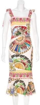 Dolce & Gabbana Folklore Print Silk Dress