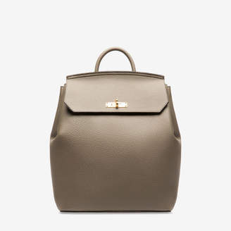 Bally New Backpack Grey, Women's calf leather backpack in snuff