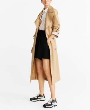 MANGO Classic Belted Trench