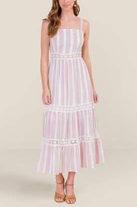 francesca's Aubree Crochet Insert Maxi Dress - Ivory