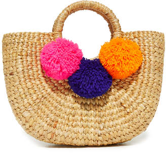 JADEtribe Basket Mini Pom Bag $115 thestylecure.com