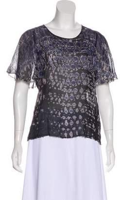 Raquel Allegra Short Sleeve Silk Top
