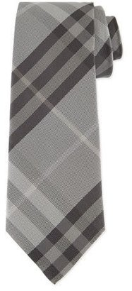 Burberry Textured Check Silk Tie, Gray $190 thestylecure.com