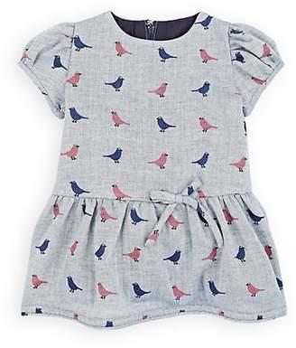 Isabel Garreton Infants' Bird-Print Cotton Dress With Bloomers & Tights