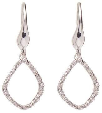 Monica Vinader Silver Riva Diamond Kite Earrings
