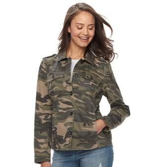 Juniors' Sebby Military Style Twill Jacket