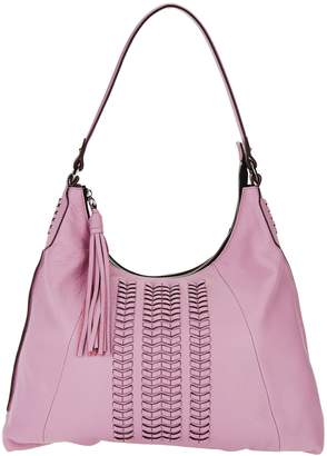 Oryany Pebble Leather Hobo Bag w/ Braided Detail - Alli