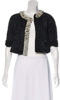 Dries Van Noten Silk Embellished Jacket
