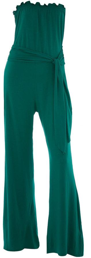 Green bandeau jumpsuit