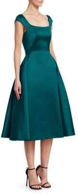 Zac Posen A-Line Satin Cocktail Dress