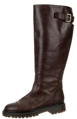 Marni Leather Knee-High Boots Brown Leather Knee-High Boots