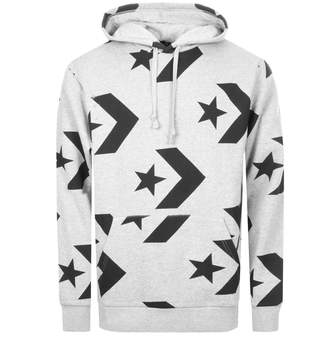 Converse Star Chevron Pullover Logo Hoodie Grey