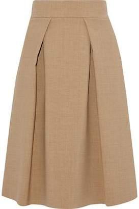 Carolina Herrera Pleated Wool-Blend Skirt
