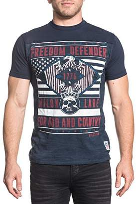Affliction Men's Freedom Defender Short Sleeve Graphic T-Shirt