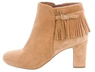 Tabitha Simmons Fringe-Trimmed Ankle Boots