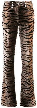 Giambattista Valli textured flared trousers