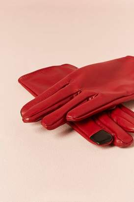 Forever 21 Faux Leather Touchscreen Gloves