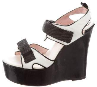 RED Valentino Nylon Platform Wedges