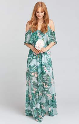 Show Me Your Mumu Caitlin Ruffle Maxi Dress ~ Hanalei Dream