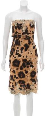 RED Valentino Printed Cocktail Dress