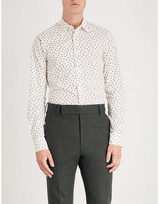 Tiger of Sweden Floral-print slim-fit cotton-poplin shirt