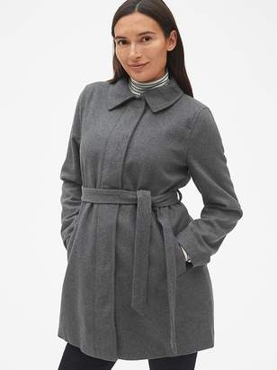 Gap Maternity Tie-Belt Coat in Wool-Blend